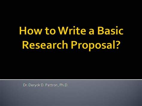 How to Write a Basic Research Paper Proposal, Template